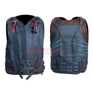 Batman The Dark Knight Rises Tom Hardy Bane Biker Leather Vest