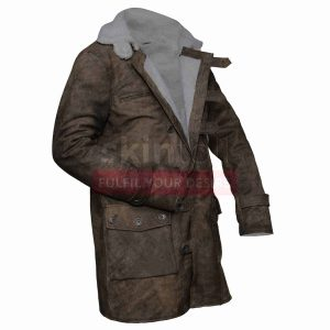 Tom Hardy The Dark Knight Rises Bane Distressed Brown Leather Coat