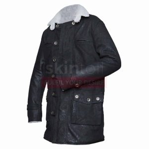 Tom Hardy The Dark Knight Rises Bane Distressed Black Leather Coat