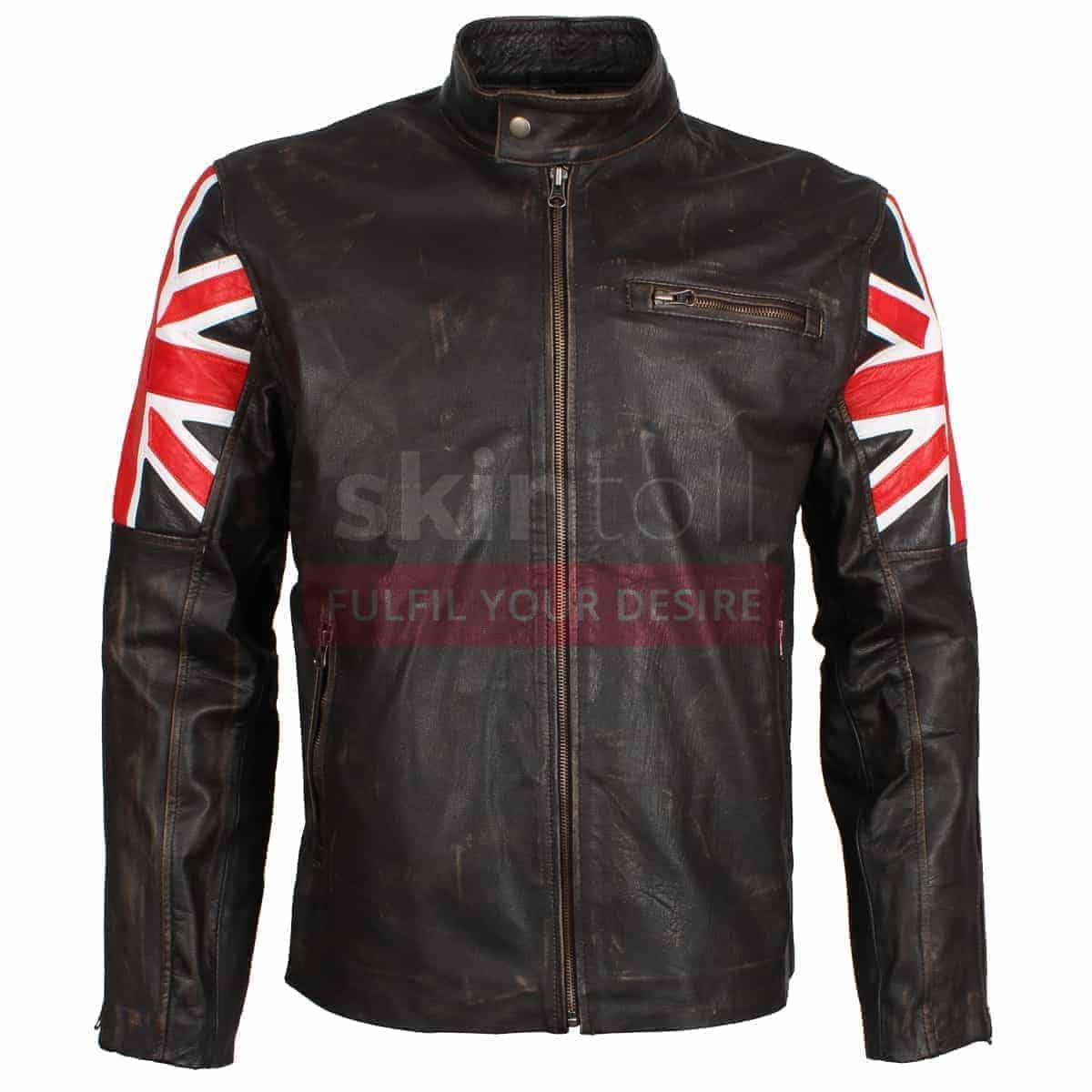 Motorcycle leather jacket sale