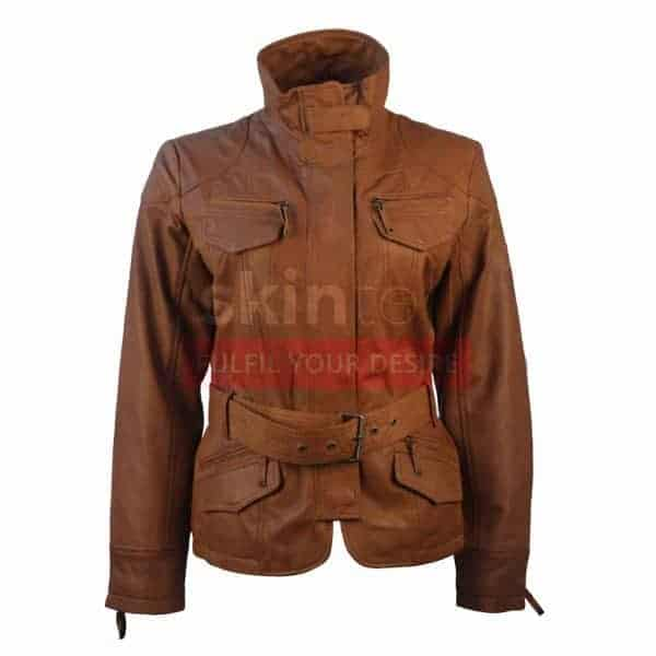 women-brown-lambskin-belted-leather-jacket
