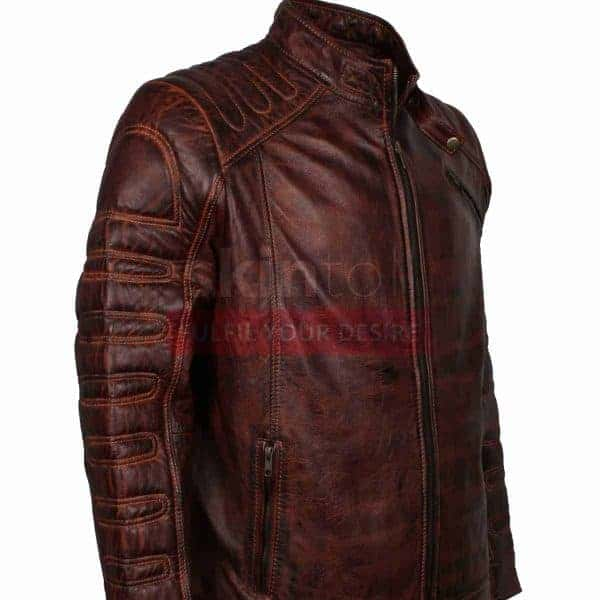 vintage Classic Fashion Motorcycle Leather Jacket