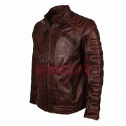 vintage Classic Fashion Motorcycle Racer Leather Jacket