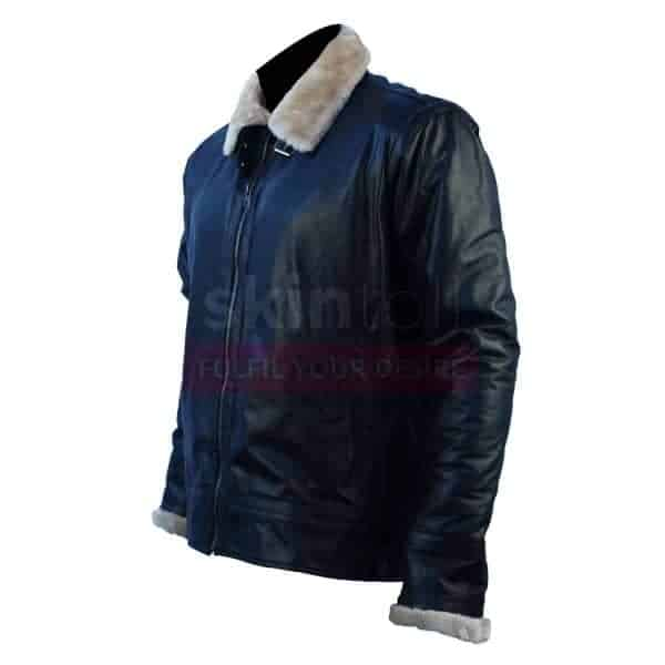 Classic Designer Furr Black Leather Jacket