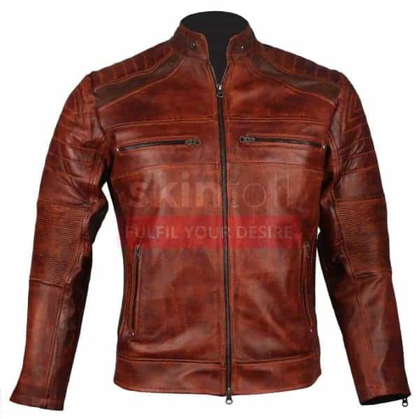 men's vintage leather motorcycle jackets