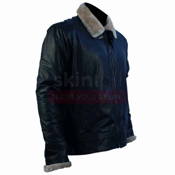 Winter Classic Black Fur Leather Jacket