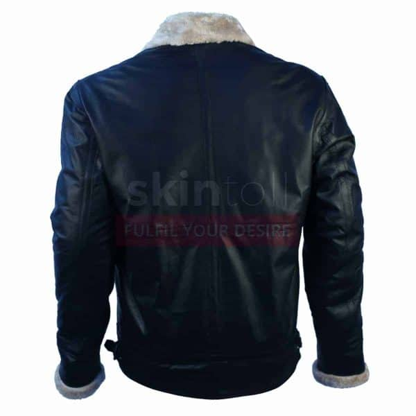 Winter Classic Fur Black Leather Jacket
