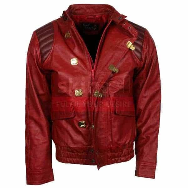 Akira Kaneda Fashion Red Leather Jacket