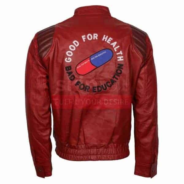 Manga Akira Kaneda Capsule Text Men Biker Fashion Slim fit Leather Jacket
