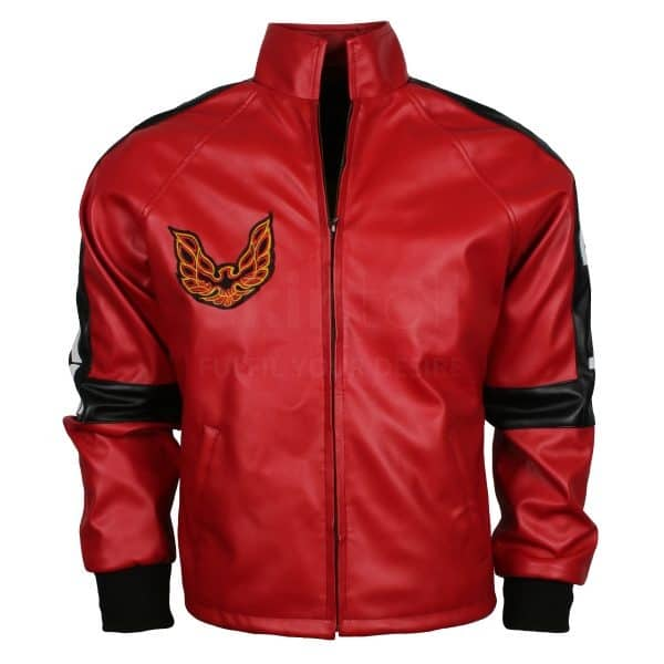 Red Smokey Leather Jacket