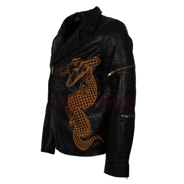 Dragon Killer Croc Leather Jacket
