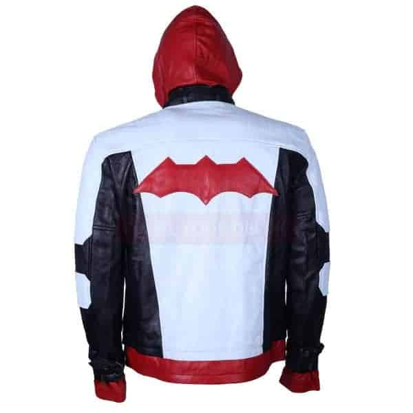 Batman Arkham night leather jacket back
