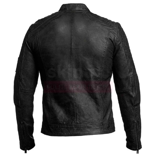 Mens Vintage Moto Motorcycle Cafe Racer 1 Real Leather Jacket