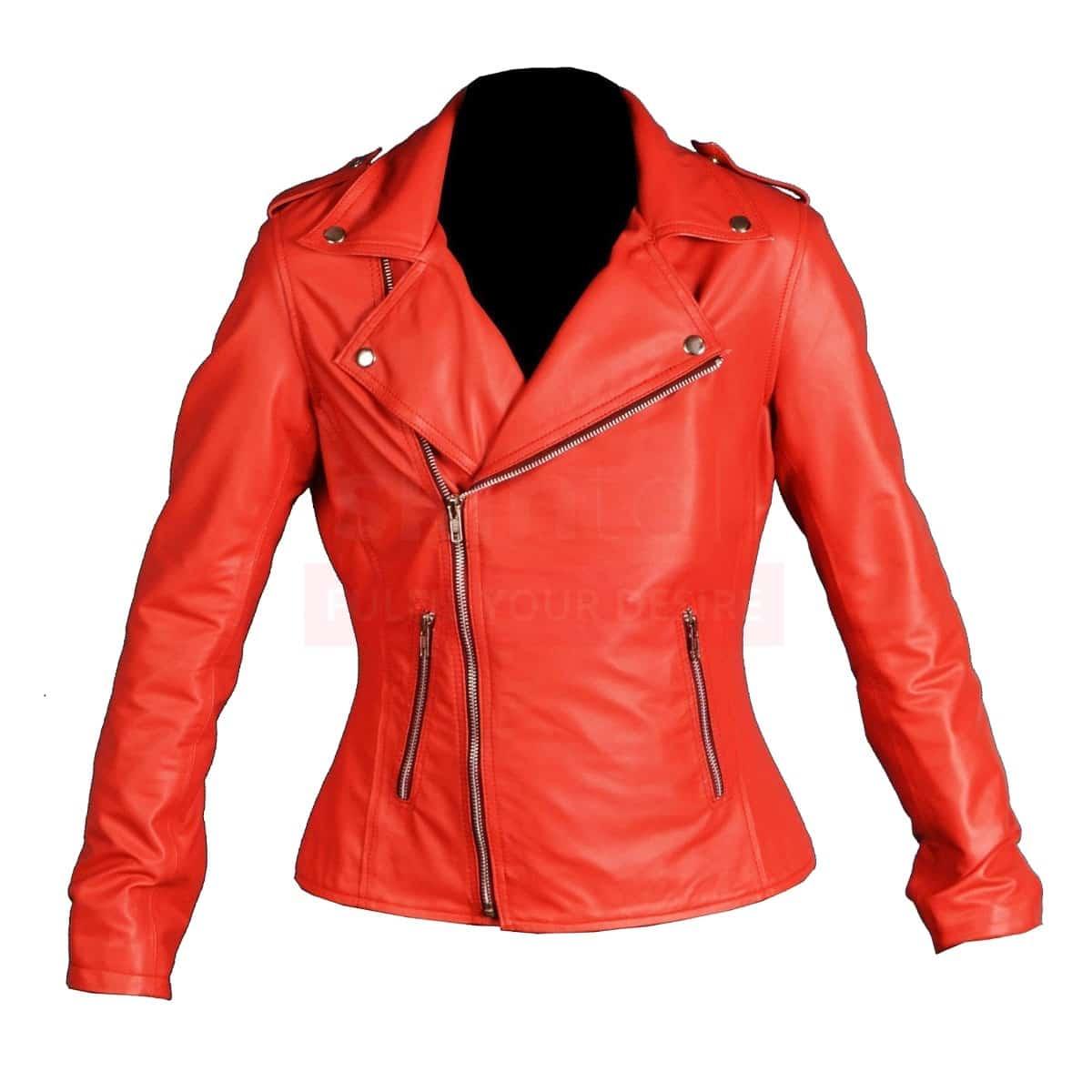 6f8028af810e Riverdale Southside Serpents jacket - Red Leather Jacket Womens
