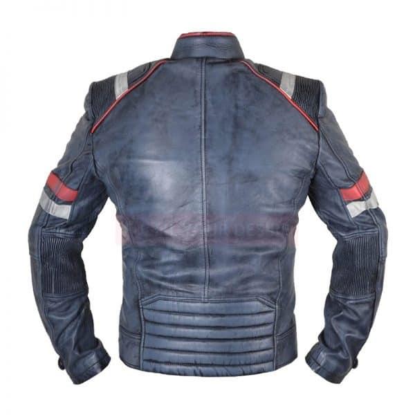 biker leather jacket back